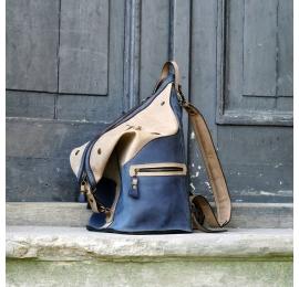 Rucksack / Tasche Marineblau, Beige
