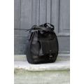 Lusi torebka w kolorze czarnym ręcznie wykonana z naturalnej skóry torba od Ladybuq Art