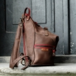 Backpack or Bag perfect travel bag made out of beautiful natural leather made by Ladybuq Art Studio
