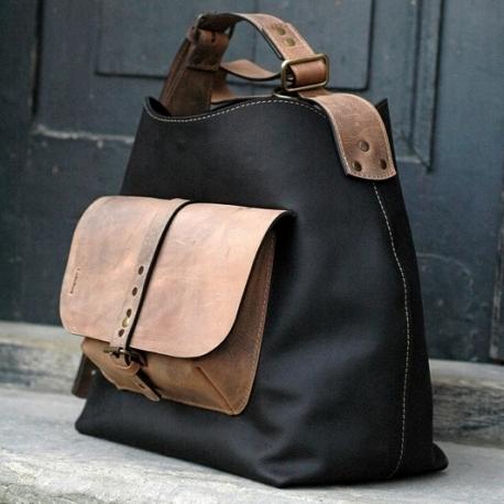 Torebka skórzana Alicja na jednym pasku kolor czarny torba od ladybuq art studio