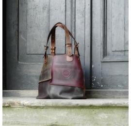 Torba skórzana z odpinaną podszewką torebka od polskich projektantów unikalna Alicja od Ladybuq Art Studio