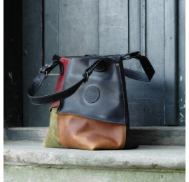leather oversized bag Alicja with lining original bag made by Ladybuq Art Studio out of genuine natural leather