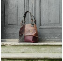 Torba skórzana z odpinaną podszewką Alicja torba wykonana ręcznie od Ladybuq Art Studio