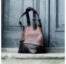 Torba skórzana z odpinaną podszewką Alicja unikalna torebka na każdą okazję od polskich projektantów Ladybuq Art Studio