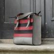 Squer handmade natural high quality leather bag designer bag made by Ladybuq Art