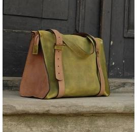 Lili dwa kolory ręcznie robiona skórzana torba w pięknych odcieniach torba na co dzień stworzona przez Ladybuq