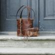 JULIA SMALLER SIZE unique designer original bag made by Ladybuq Art studio out of finest quality natural, genuine leather