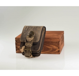 Leather phone case hip bag