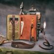 skórzany ręcznie wykonany portfel do spersonalizowania, portfel od polskich projektantów