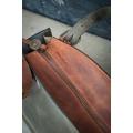 Kuferek z kopertówką szary i khaki