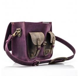 Messenger buraczkowy torba na laptopa idealny wybór do biura torba z naturalnej skóry od Ladybuq Art
