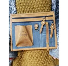 Leather purse organizer