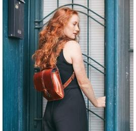 Torebka lub plecak Molly w 3 różnych rozmiarach kolor Rudy