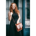 leather handmade molly purse in ginger color made by ladybuq