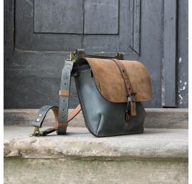 Ledertasche und Rucksack MOLLY größere Größe - braun und grau