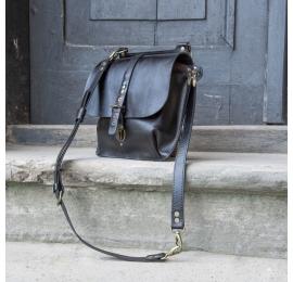 Ledertasche und Rucksack MOLLY größere Größe - schwarz