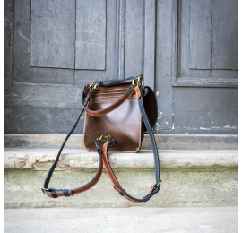 Torebka lub plecak Molly większy rozmiar kolor Rudy Granat i Brąz