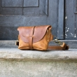 Fanny pack / cross body leather bag size L kolor whiskey