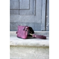 Fanny pack / cross body leather bag size L brown gray and whiskey