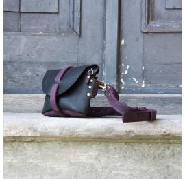 Nerka / torebka na ramię rozmiar L kolor czarny i śliwkowy