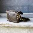 Fanny pack / cross body leather bag size L kolor whiskey