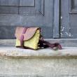 sacbananecuir taille L couleur du kaki