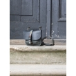 Small messenger leather  bag/ small backpack Molly black and gray