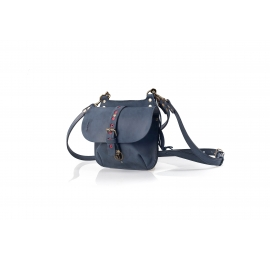 Small messenger leather  bag/ small backpack Molly  graphite