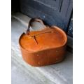 leather shoulder bag basia made by ladybuq art in vintage style camel color