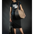 """Bag """"Basia""""  Brown color unique everyday stylish bag made by ladybuq art studio"""
