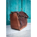 Ręcznie wykonana torebka skórzana Kuferek w minimalistycznym stylu vintage.