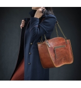 Ręcznie wykonana torebka skórzana Kuferek w stylu vintage