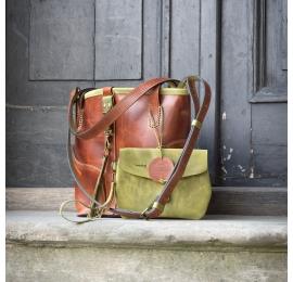 Sac à main en cuir sac à main Julia original avec fermeture à glissière et petite pochette interne
