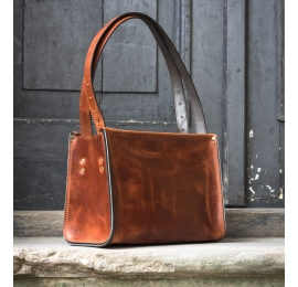 Lili ginger natural leather handmade bag