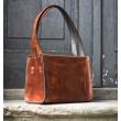 Lili ginger natural leather handmade bag