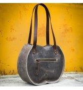 """Sac à main en cuir """"Basia"""" de couleur unique Sac fourre-tout Taille L et L SLIM fabriqué par le studio d'art Ladbuq"""