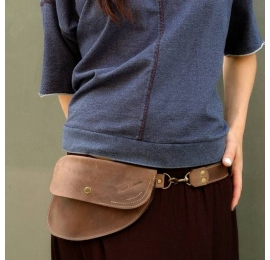 Fanny pack in Brown color