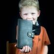 Chéquier portefeuille en cuir fait main