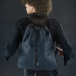leather bag made of natural leather backpack suit made black