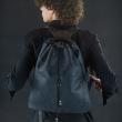 worek skórzany z naturalnej skóry plecak do garnituru ręcznie wykonany czarny