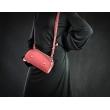 Purse Pepa handmade leather purse raspberry color