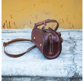 Torebka skórzana, mała torebka Pepa kolor brązowy