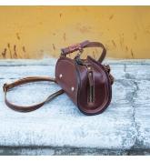 Handgefertigte Leder Geldbörse Pepa Farbe braun