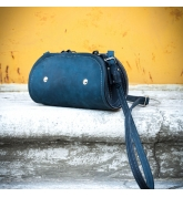 Torebka skórzana Pepa w kolorze granat