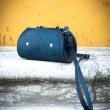 Ledergeldbeutel Farbe Marineblau