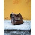 Torebka wizytowa elegancka torebka kolor brązowy
