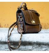 Handgemachter kleiner Ledergeldbeutel Farbe braun