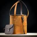 torebka skórzana w kolorze kamel torebka wykonana ręcznie