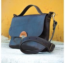 handmade leather purse dark chocolate