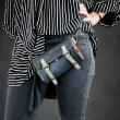 stylish wallet with a strap blue, black, grey